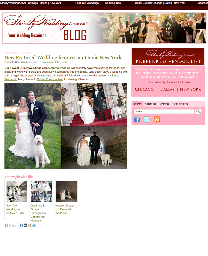 Strictly Weddings Features Our New York City Wedding | Gruber ...